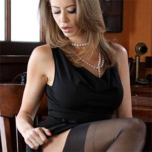 Emily Addison Black Dress Office Fantasy
