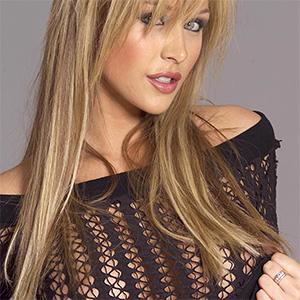 Emily Scott Hot Blonde In Mesh