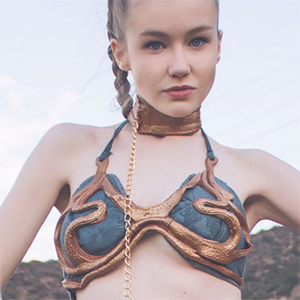 Emily Bloom Slave Leia Cosplay