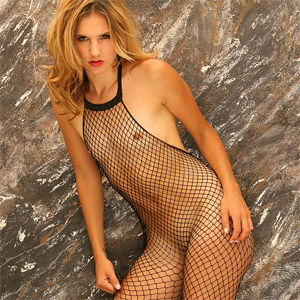 Eva Black Fishnet