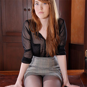 Gwen Satin Secretary Office Fantasy