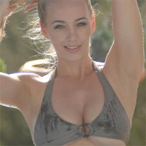Hayley Marie Green Bikini