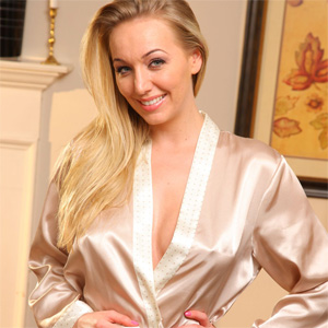 Hayley Marie Silk Robe Lingerie