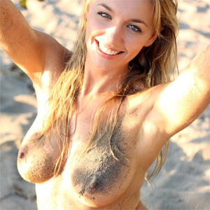 Hayley Marie Nude In The Sand