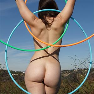 Irene Quinn Naked Hula Hoop for Zishy