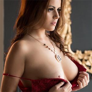 Izabella Morales Red Lingerie