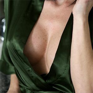 Jaclyn Taylor Silk Robe Titties