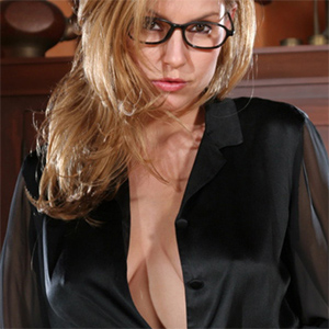 Jamie Lynn Black Dress Office Fantasy