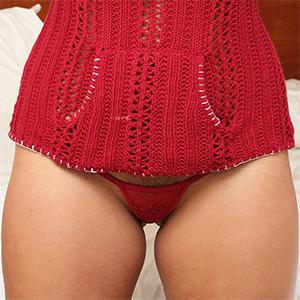 Jasmine Grey Sweater and Thong