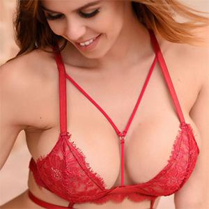 Jennifer Ann Red Lace Lingerie