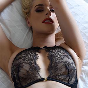 Jess Davies Black Lace Lingerie