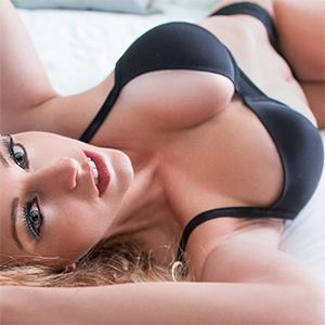 Kari Nautique Black Lingerie In Bed