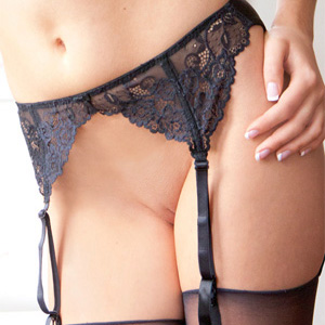 Kate Hughes Black Lingerie