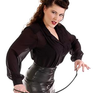 Kate Donovan Leather Pinup