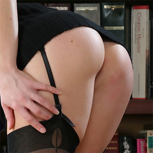 Katie Naughty Librarian Stripping