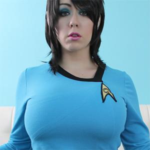 Kayla Kiss Plays a Nude Spockette