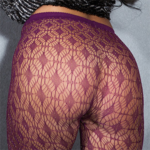 Kendra Cantara Purple Fishnet Getting Naked
