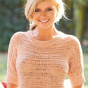 Kinzie Van Perky Blonde In A Sweater