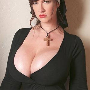 Lana Kendricks Plays The Busty Nun for Halloween