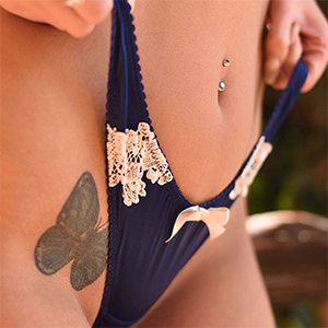 Lauren Louise Sexy Blue Panties