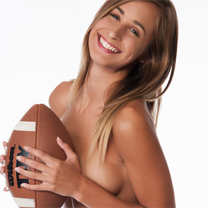 Lizzie Marie Play Football