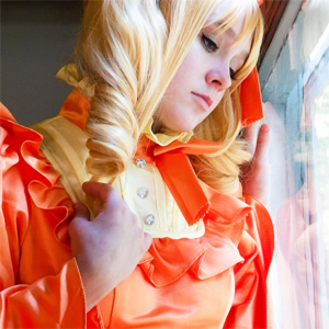 Lizzy Orange Bathroom