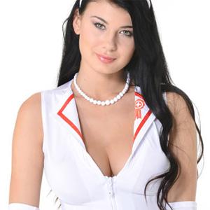 Lucy Li Busty Nurse Cosplay