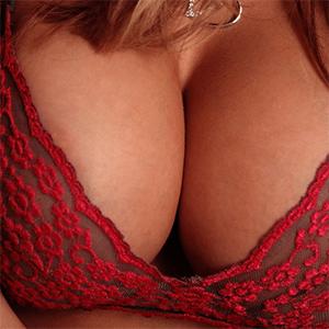 Megan Jones Red and Black Lingerie