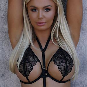 Megan Marie Sexy Black Lace Lingerie