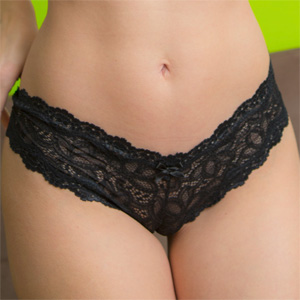 Melanie Moore Black Frilly Lace