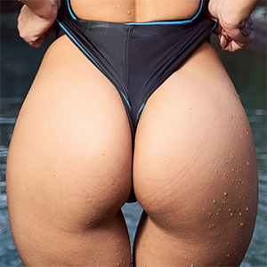 Melisa Mendini Skin Tight Swimsuit