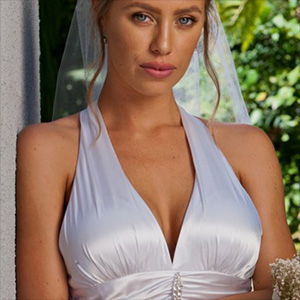 Nicole Aniston Is Playing The Bride In White