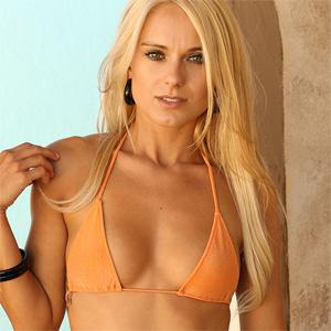 Nicole Orange Bikini