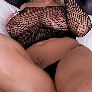 Nikki Sims Black Mesh Boobs