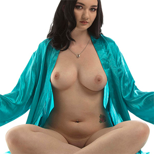 Nora Rose Silk Robe Nude Muse
