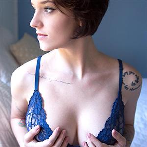 Nym Blue Lingerie Seduction Suicidegirl