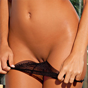 Rebecca Carter Cute Playmate Removes Her Panties