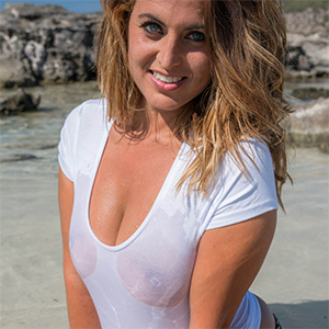 Sarah P Wet Shirt for Real Bikini Girls