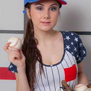 Scarlett Jo Baseball Star for Cosmid