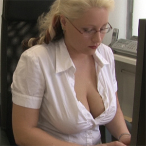 Busty Secretary for Frivolous Dress Order
