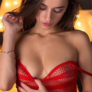 Sophia Star Ripped Red Dress