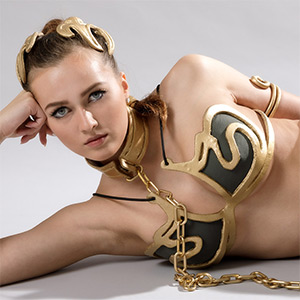 Stacy Cruz Slave Leia XXX Cosplay