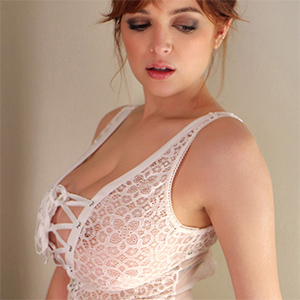 Tessa Fowler Loves Her Sheer Lace Bodysuit