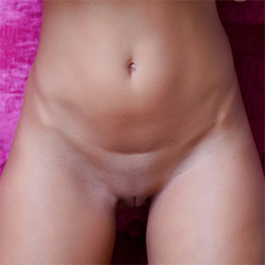 Tunde Pink Wall and Shaved Pussy