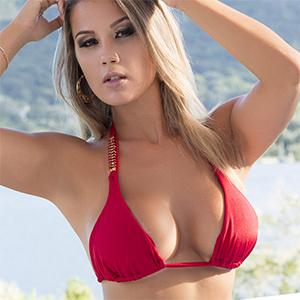 Vanessa Vailatti Seductive Red Bikini